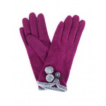 Powder Betty Wool Gloves Damson