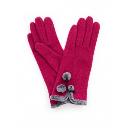 Powder Betty Wool Gloves Fuchsia