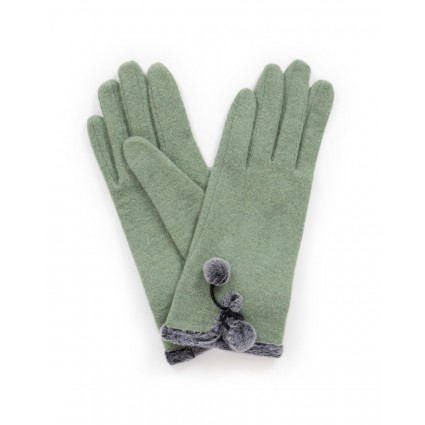 Powder Betty Wool Gloves Moss