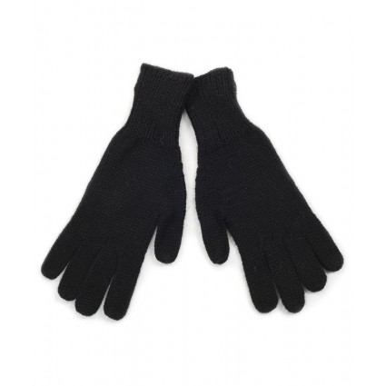 Alpaca Jersey Gloves Black