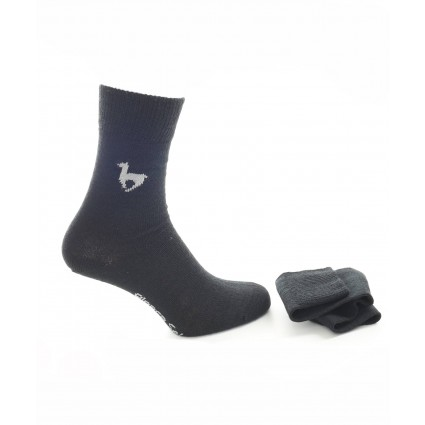 alpaca socks motif black