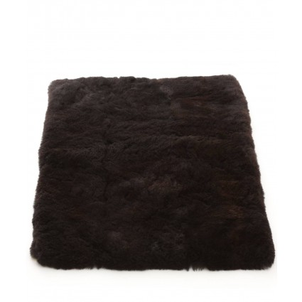Alpaca Fur Rug Black