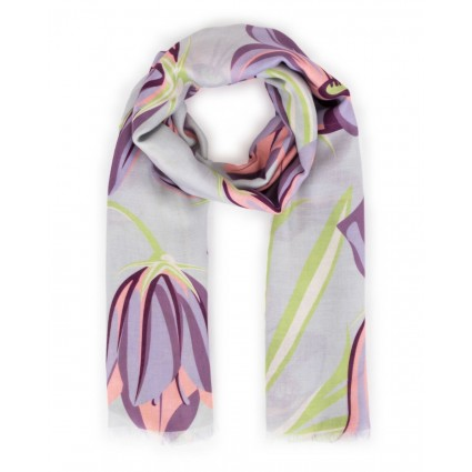 Powder Bluebell Print Scarf
