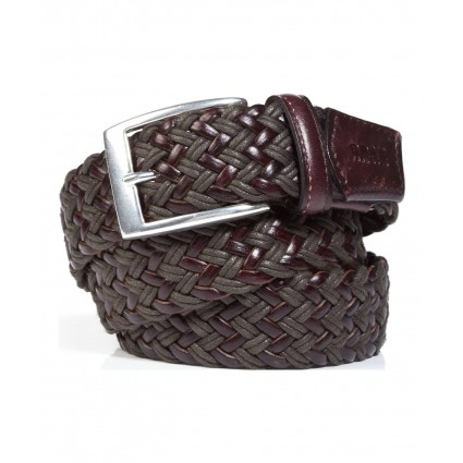 Brax Belt Webbed Leather Brown