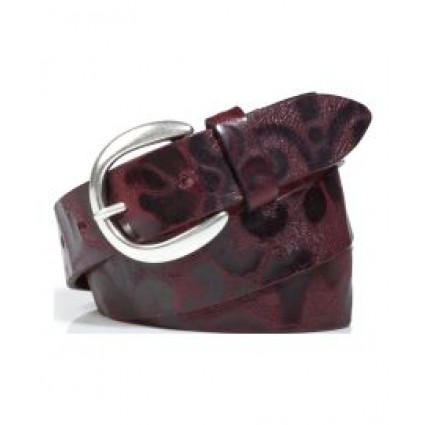Brax Leather Floral Belt Red