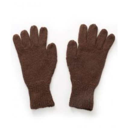 Alpaca Mens Gloves Brown