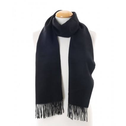Royal Baby Alpaca Brushed Woven Scarf Black