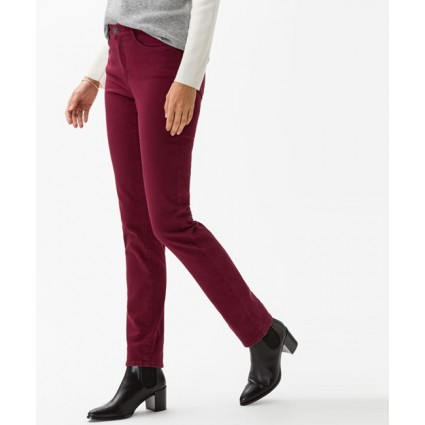 Brax Carola Brilliant Feminine Fit Jeans Cranberry