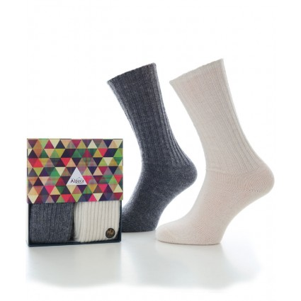 Alpaca Sock Box Casual Denim & Natural