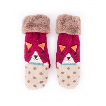 Powder Cat Mittens Berry