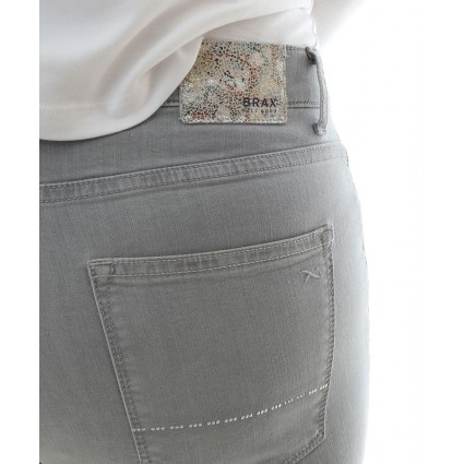 Brax Mary Slim Leg Brilliant Summer Jeans Grey