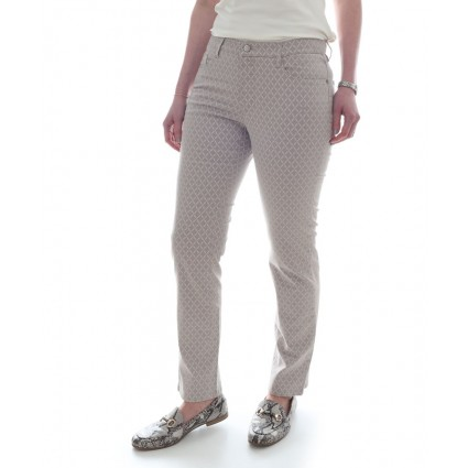 Brax Mary Trousers Taupe Diamond Print