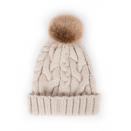 Powder Charlotte Pompom Hat Cream