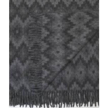 Alpaca Blanket / Throw Grey Print