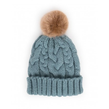 Powder Charlotte Pom Pom Hat Ice Blue