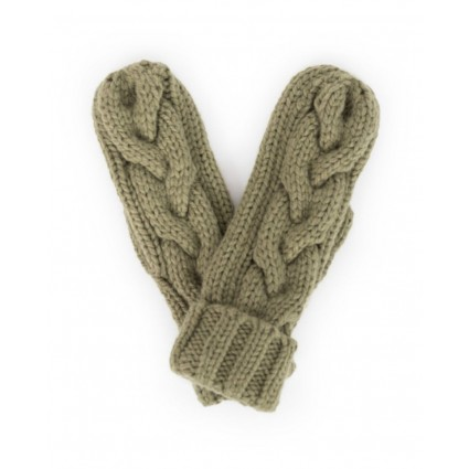 Powder Charlotte Mittens Pea Green