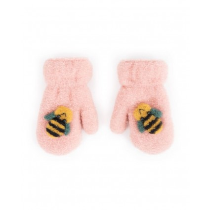 Powder Baby Bee Mittens Candy Pink