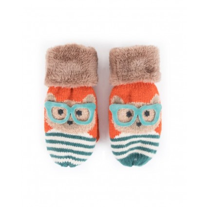 Powder Kids Teddy Mittens Tangerine
