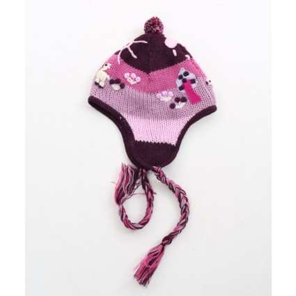 Childrens Alpaca Chullo Purple