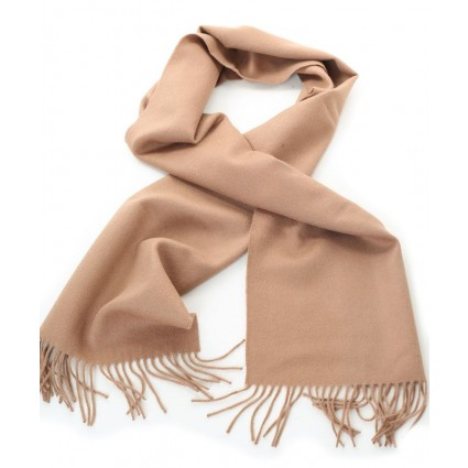 Royal Baby Alpaca Brushed Woven Scarf Camel