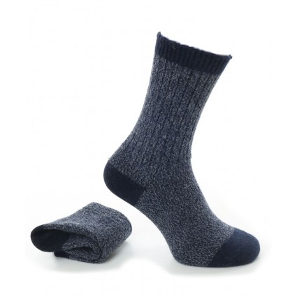 Alpaca Boot Socks Navy
