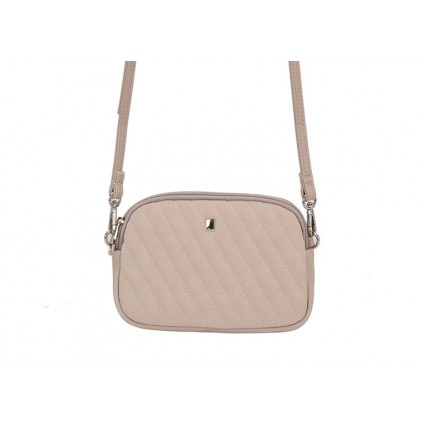 David Jones Quilted Petite Cross Body Bag Beige
