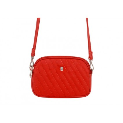 David Jones Quilted Petite Cross Body Bag Red