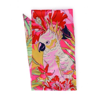 Powder Cockatoo Satin Necktie Scarf