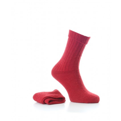 Alpaca Casual Socks Red