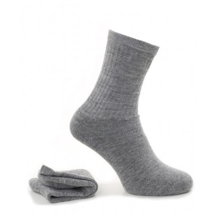 Alpaca Socks With Cushioned Sole Grey