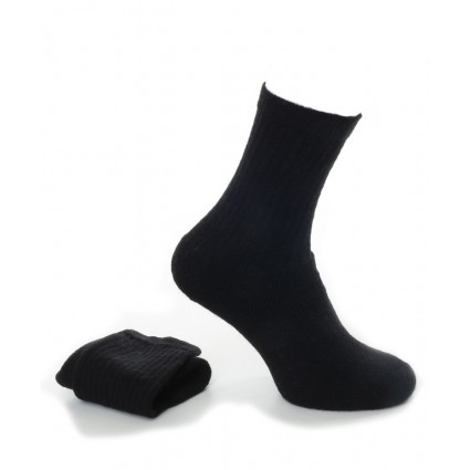 Alpaca Socks With Cushioned Sole Black