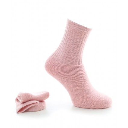 Alpaca Socks With Cushioned Sole Pink