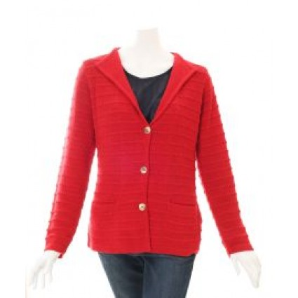 Alpaca Emily Cardigan Red