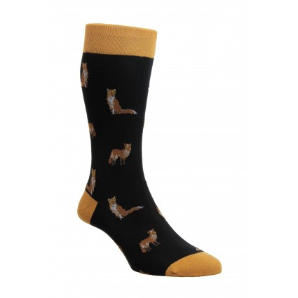 Pantherella Farnley Fox Socks Black
