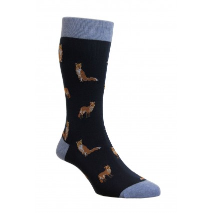 Pantherella Farnley Fox Socks Navy