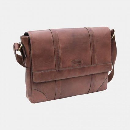 Primehide Ridgeback Large Leather Messenger Bag
