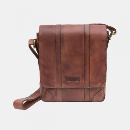 Primehide Ridgeback Small Leather Messenger Bag
