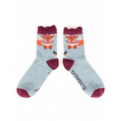 Powder Nerd Fox Bamboo Ankle Socks
