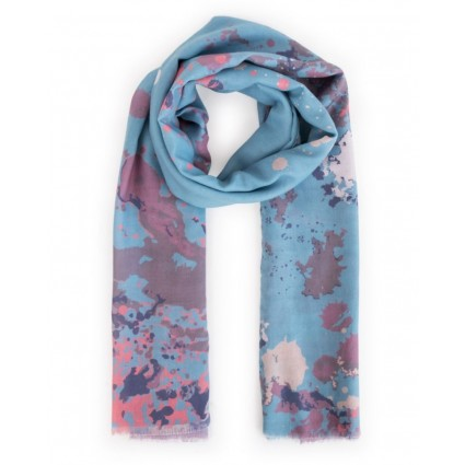 Powder Watercolour Hare Scarf