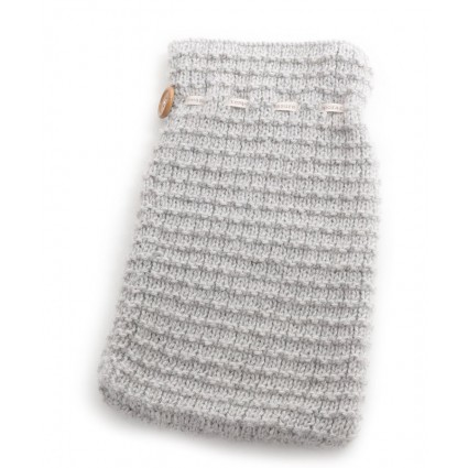 Alpaca Hot Water Bottle Cover Grey