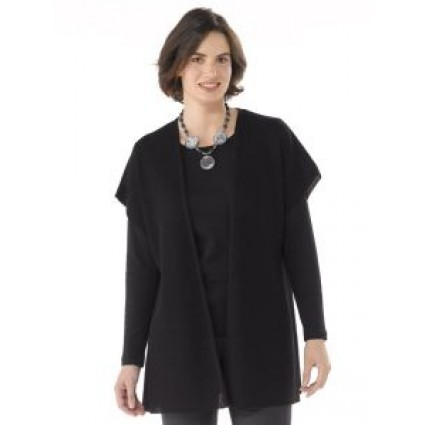 Artisan Route Ivana Alpaca Long Tunic Black
