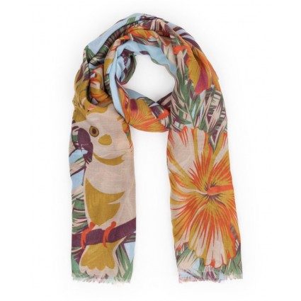 Powder Jungle Print Scarf