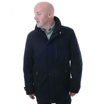 Jupiter Waterproof Wool Jacket Black
