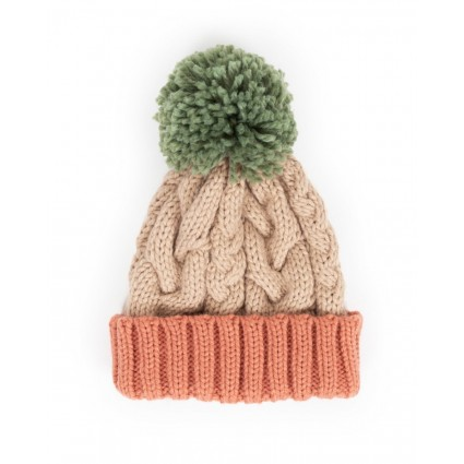 Powder Karina Pompom Hat Cream Mix