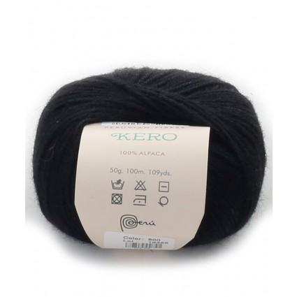 Alpaca Double Knit Yarn Black
