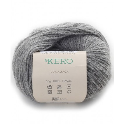 Alpaca Double Knit Yarn Silver Grey
