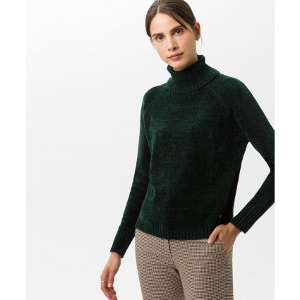 Brax Lea Chenille Roll Neck Jumper Green