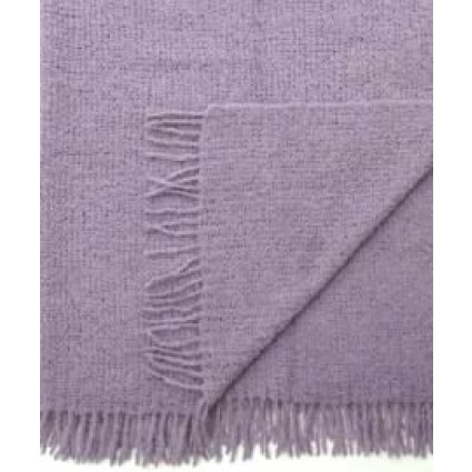 Alpaca Boucle Blanket/Throw Lavendar