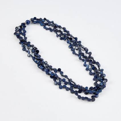 Dante Beaded Necklace Navy