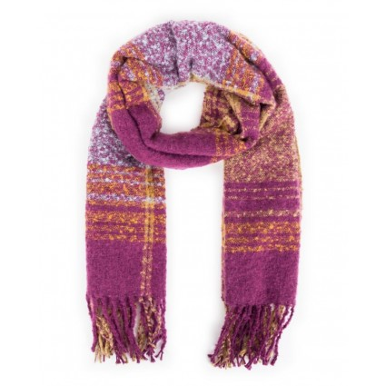 Powder Maggie Checked Scarf Damson